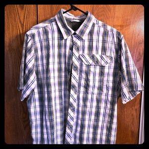 Men's Large, Eddie Bauer plaid shortsleeved shirt